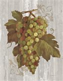Autumn Grapes II on Wood