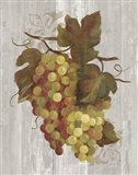 Autumn Grapes IV on Wood