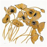 Gold Black Line Poppies II