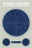 Northern Star Chart Blue Gray