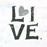 Live Gray Heart