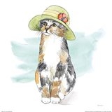 Fancy Cats III Watercolor