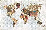 Pattern World Map Geo Background