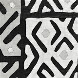 Kuba Cloth I Square I BW