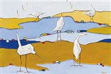 Marsh Egrets VI Dark Sand