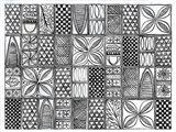Patterns of the Amazon II BW