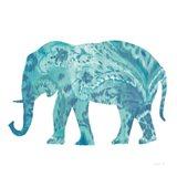 Boho Teal Elephant II