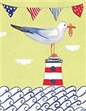 Coastal Bird I Flags