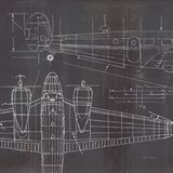 Plane Blueprint II No Words Post