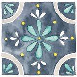 Garden Getaway Tile I Blue