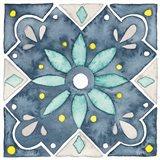 Garden Getaway Tile V Blue