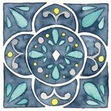 Garden Getaway Tile VII Blue