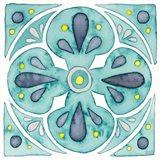 Garden Getaway Tile VI Teal