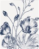 Botanical Beauty Chalk IX Blue on White Crop