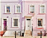 London Pink Purple Houses
