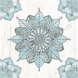 Mandala Morning VI Blue and Gray