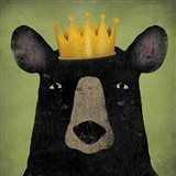 The Black Bear with Crown