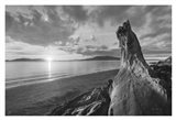 Samish Bay Sunset I BW with border