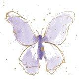 Gilded Butterflies II Lavender