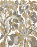 Painted Tropical Screen I Gray Gold