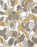 Painted Tropical Screen II Gray Gold