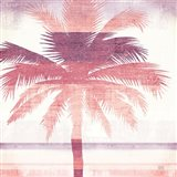 Beachscape Palms II Pink Purple