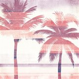 Beachscape Palms III Pink Purple