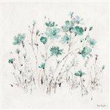 Wildflowers II Turquoise