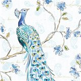 Peacock Allegory III White