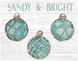 Coastal Holiday Ornament VIII Sandy and Bright