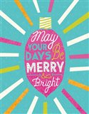 Festive Holiday Light Bulb Merry and Bright v2