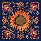 October Garden VI Blue