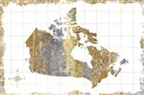 Gilded Map Canada