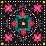 Floral Fiesta Tile VIII