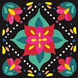 Floral Fiesta Tile XI