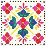 Floral Fiesta White Tile I
