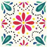 Floral Fiesta White Tile II