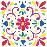 Floral Fiesta White Tile III