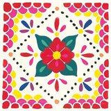 Floral Fiesta White Tile IV