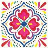 Floral Fiesta White Tile V