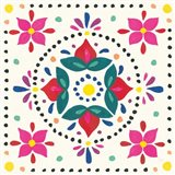 Floral Fiesta White Tile VIII