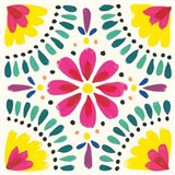 Floral Fiesta White Tile X