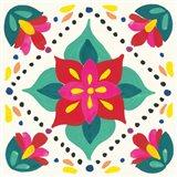 Floral Fiesta White Tile XI