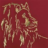 Gilded Lion on Red