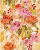 Pink and Orange Brocade II