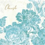 Toile Roses V Teal Cherish