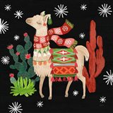 Lovely Llamas IV Christmas Black