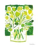 Lemon Green Tulips I