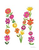 Floral Alphabet Letter XIII