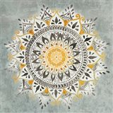 Mandala Delight I Yellow Grey